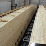 Brückenträger Holzschalung