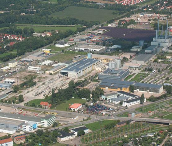 Luftbild vom Standort